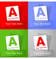 Set of promotion white paper cards on colorful bac vector image vector image