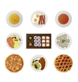 set ofnine dishes from different world kitchens vector image