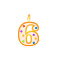 six years anniversary 6 number shaped birthday vector image