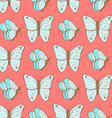 Sketch butterfly in vintage style vector image vector image