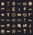 sport award icons set simple style vector image