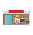 supermarket building front icon vector image vector image