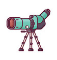 travel spotting scope for birdwatching vector image vector image