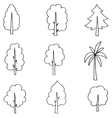 Tree set hand draw on doodle vector image vector image
