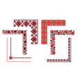 Ukrainian embroidery corners vector image vector image
