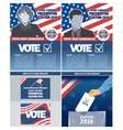 Usa 2016 election a4 flyer mockup with country map vector image