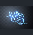 versus sign vs glow symbol vector image