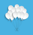 white paper balloons vector image vector image