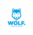 wolf mascot logo template vector image