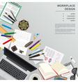 Workspace of the writer translator copywriter vector image