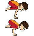 yoga asana set crane and crow poses vector image