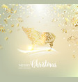 zodiac symbol with curves ribbon confetti vector image vector image