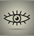 eye icon black and white vector image