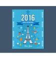 Travel to Paris for christmas Greeting card vector image