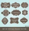 Frames label vintage