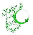 Abstract banner with curls of green color vector image