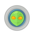 alien face in space suit vector image vector image