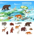 Animals Ice Age Concept vector image vector image