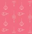 asian seamless patterns bright cawai pink vector image vector image