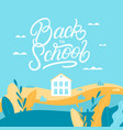 back to school lettering backround vector image vector image