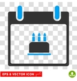 Birthday Cake Calendar Day Eps Icon vector image vector image