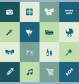 birthday icons universal set for web and ui vector image vector image