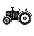 Black tractor icon vector image vector image
