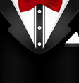 Business tuxedo background with a red bow tie vector image vector image
