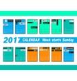 Calendar 2017 template vector image