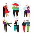 casual love couples set vector image vector image