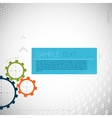Colorful gears on gray background vector image vector image