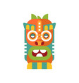 colorful tribal facial mask on vector image vector image