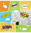 Comic colored speech bubbles in pop art style vs vector image vector image
