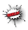 Comic text Berlin sound effects pop art vector image vector image