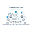 command structure business hierarchy teamwork vector image vector image
