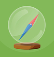 Compass Glass Round Object Navigator vector image vector image