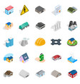construct icons set isometric style vector image
