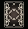 decorative frame for laser cutting cover design vector image