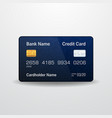 detailed realistic credit card vector image vector image