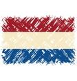 Dutch grunge flag vector image vector image
