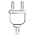 electric plug isolated vector image vector image