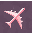 Flat airplane background vector image vector image
