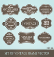 Frames label vintage vector image