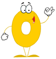 funny cartoon numbers-0 vector image vector image