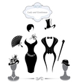 Gentleman and Lady symbols vintage style vector image vector image