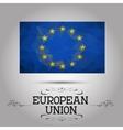 geometric polygonal European Union flag vector image vector image
