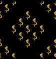golden dollars seamless pattern background vector image vector image