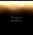 golden new year background with blur vector image vector image