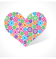 Group of gear make a heart vector image vector image