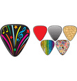 Guitar Pick Collection vector image vector image
